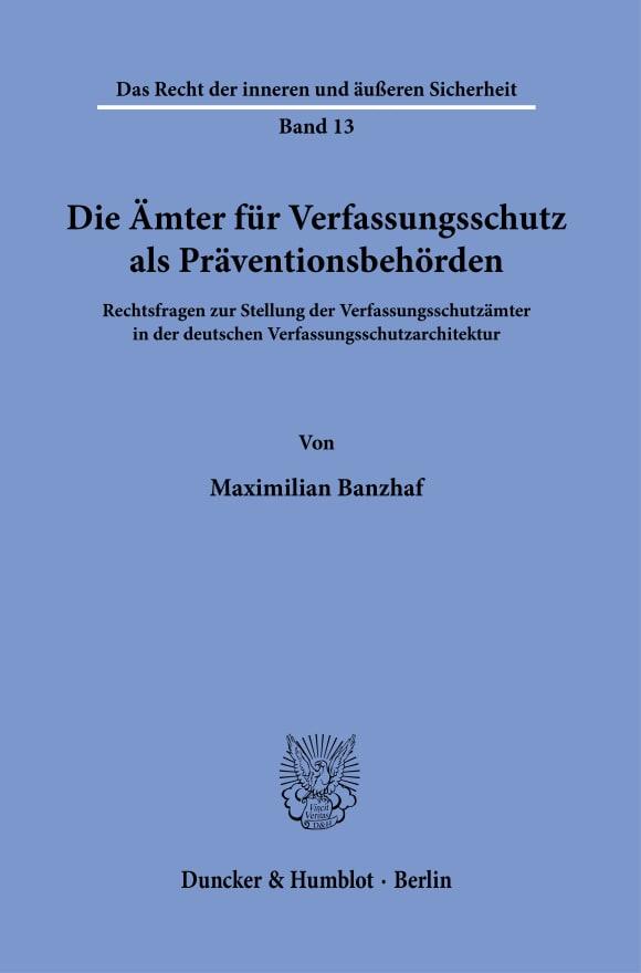 Cover Das Recht der inneren und äußeren Sicherheit (RS)