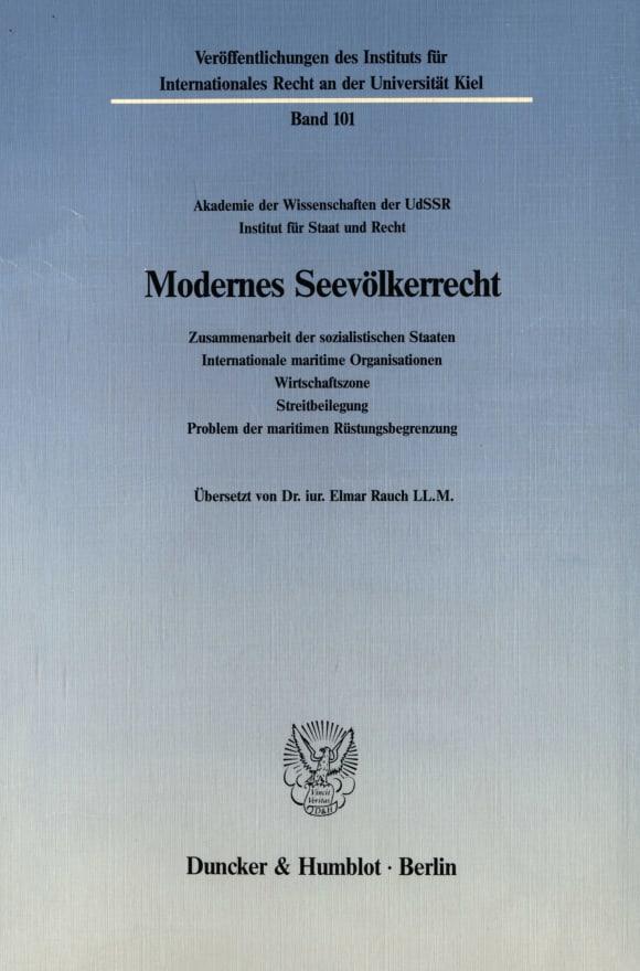 Cover Modernes Seevölkerrecht