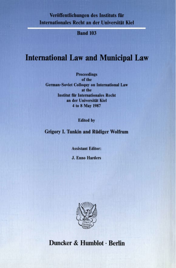 Cover International Law and Municipal Law