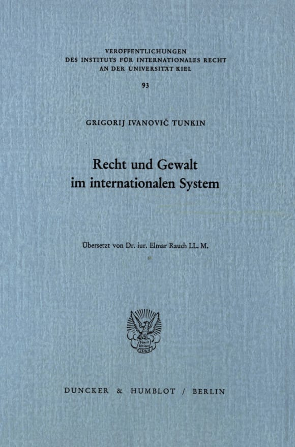 Cover Recht und Gewalt im internationalen System