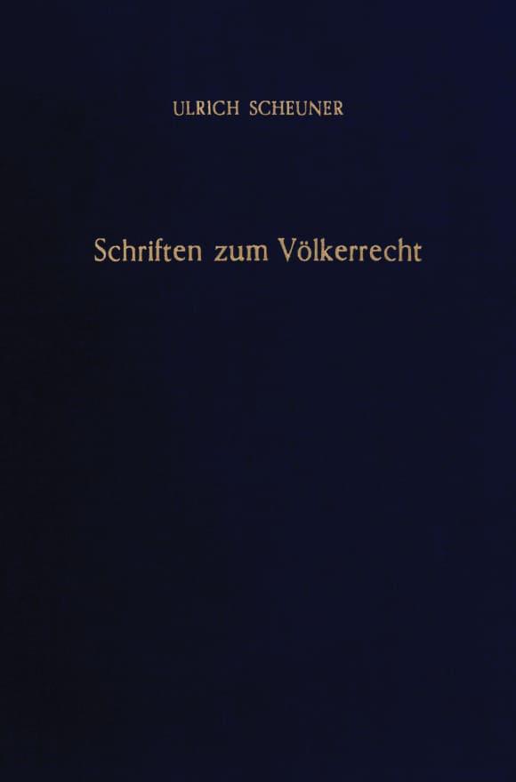 Cover Schriften zum Völkerrecht
