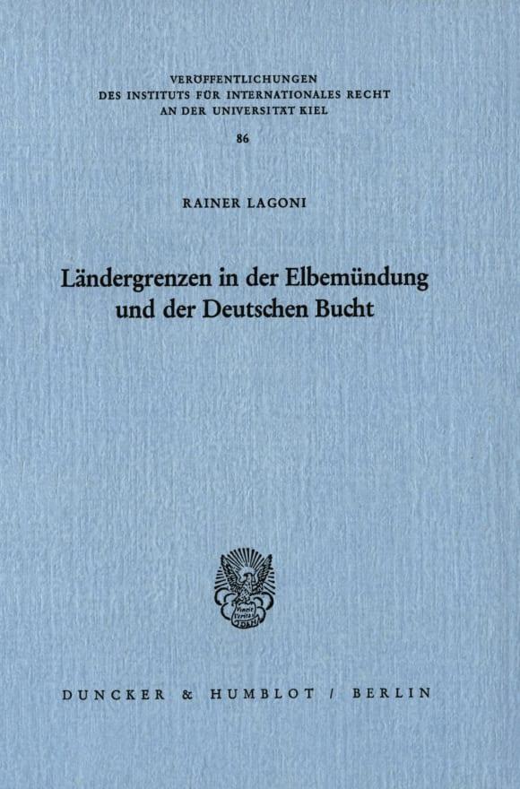Cover Ländergrenzen in der Elbemündung und der Deutschen Bucht