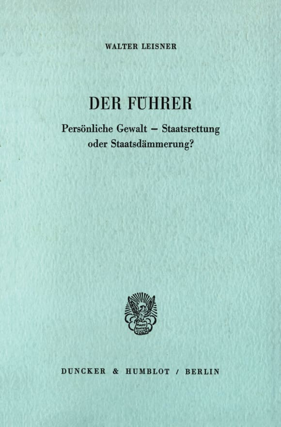 Cover Der Führer