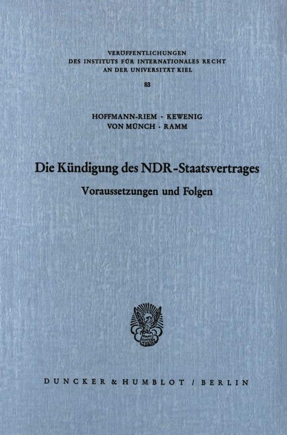 Cover Die Kündigung des NDR Staatsvertrages