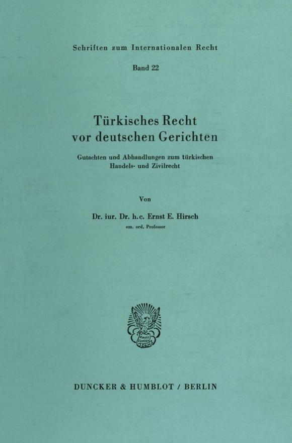 Cover Türkisches Recht vor deutschen Gerichten