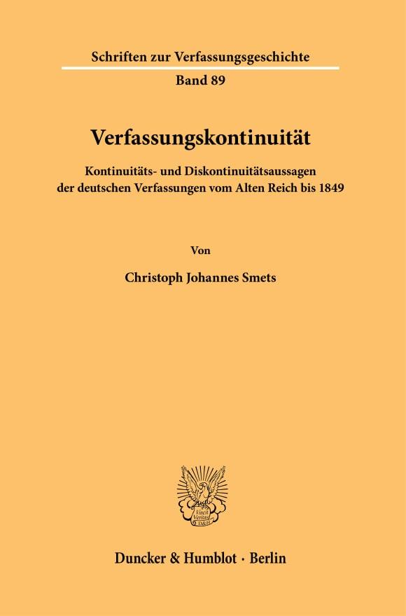 Cover Verfassungskontinuität