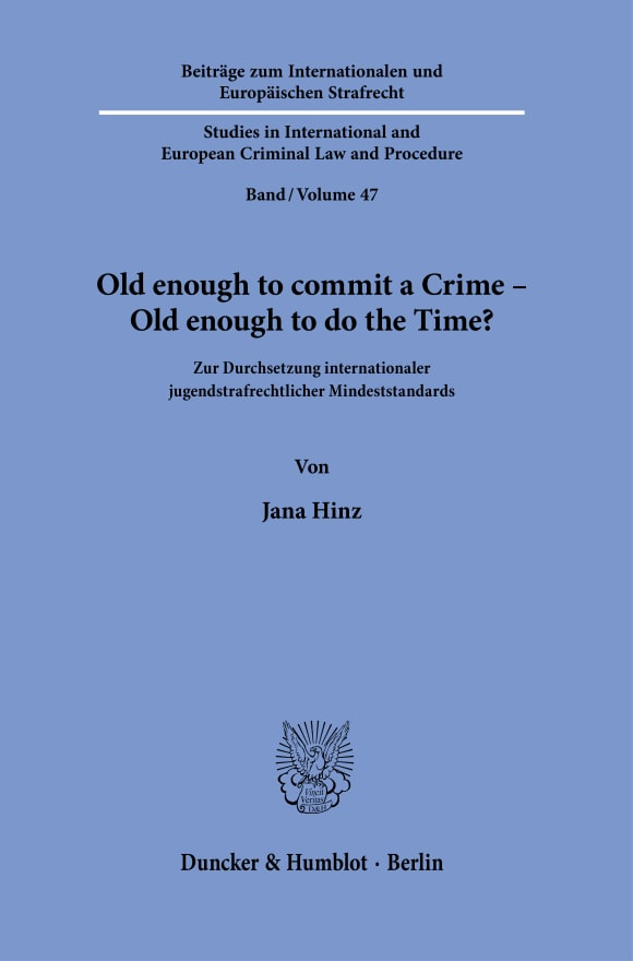 Cover Old enough to commit a Crime – Old enough to do the Time?
