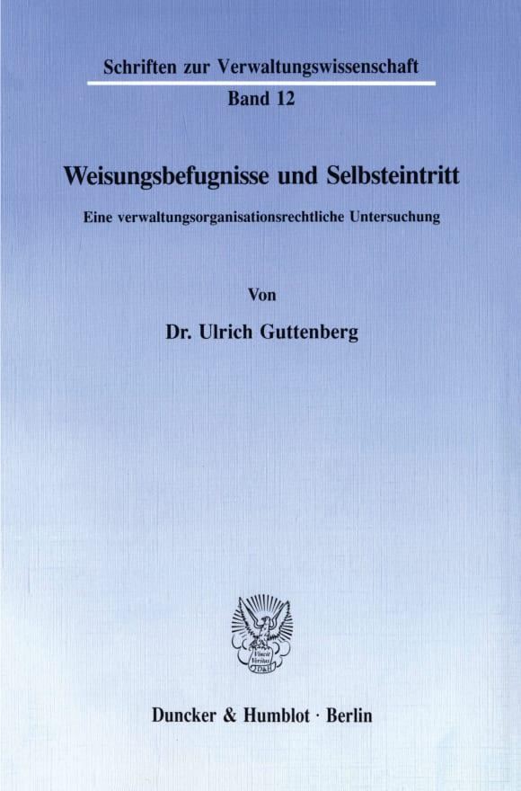 Cover Weisungsbefugnisse und Selbsteintritt
