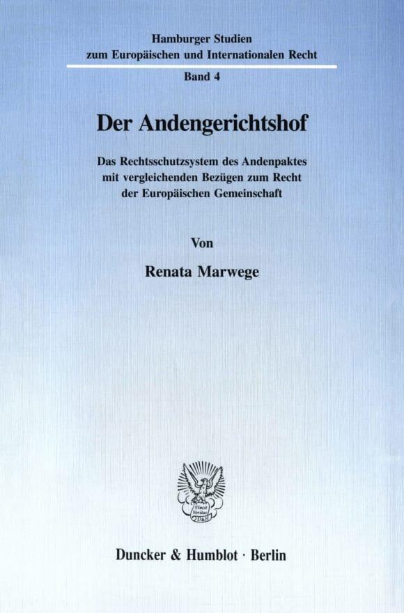 Cover Der Andengerichtshof