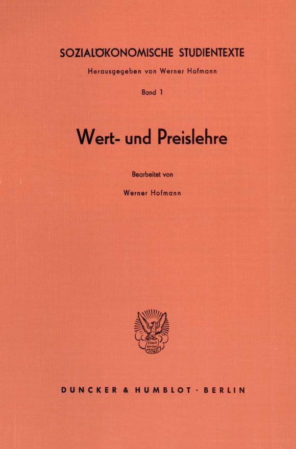 Cover Sozialökonomische Studientexte