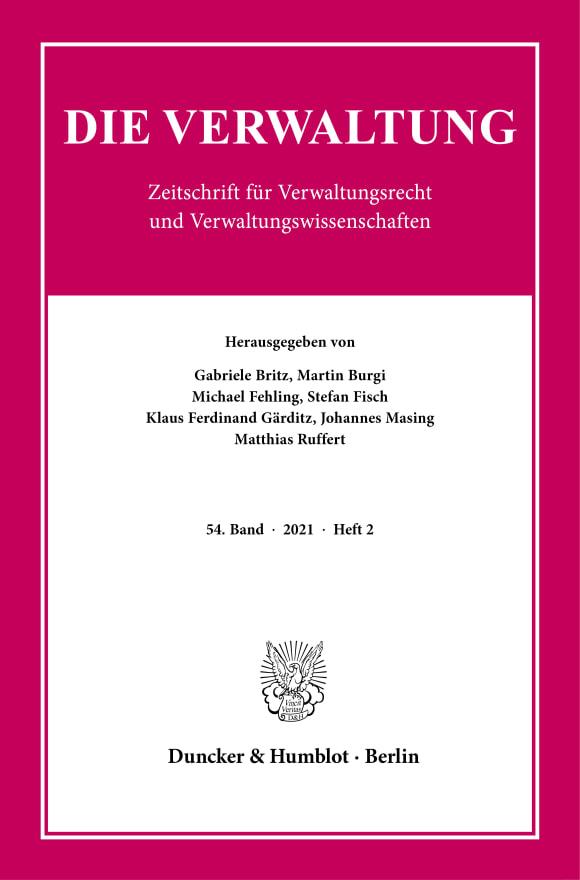 Cover VERW 2/2021