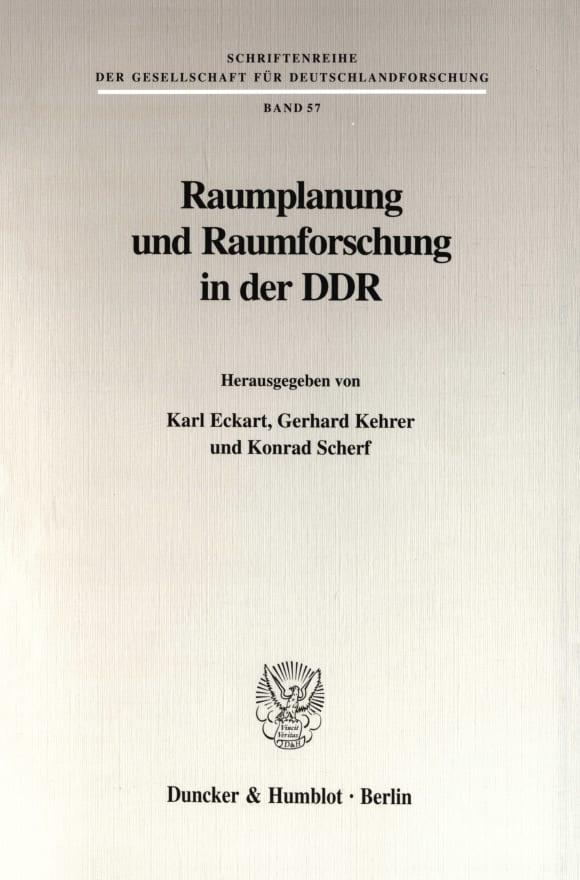 Cover Raumplanung und Raumforschung in der DDR