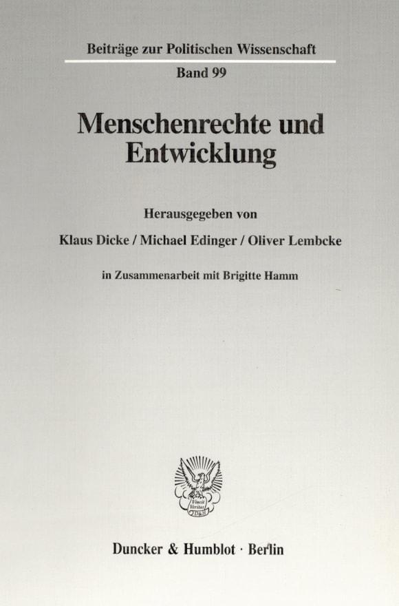 Cover Menschenrechte und Entwicklung