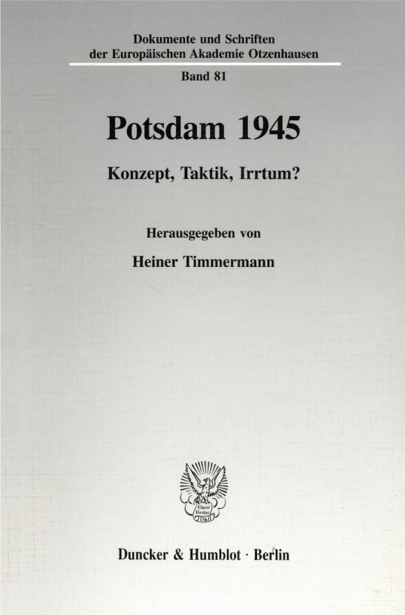 Cover Potsdam 1945