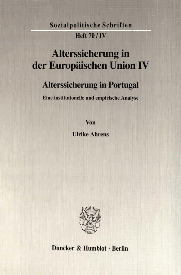 Cover Alterssicherung in der Europäischen Union IV