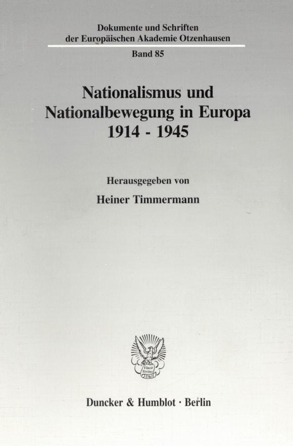 Cover Nationalismus und Nationalbewegung in Europa 1914 - 1945