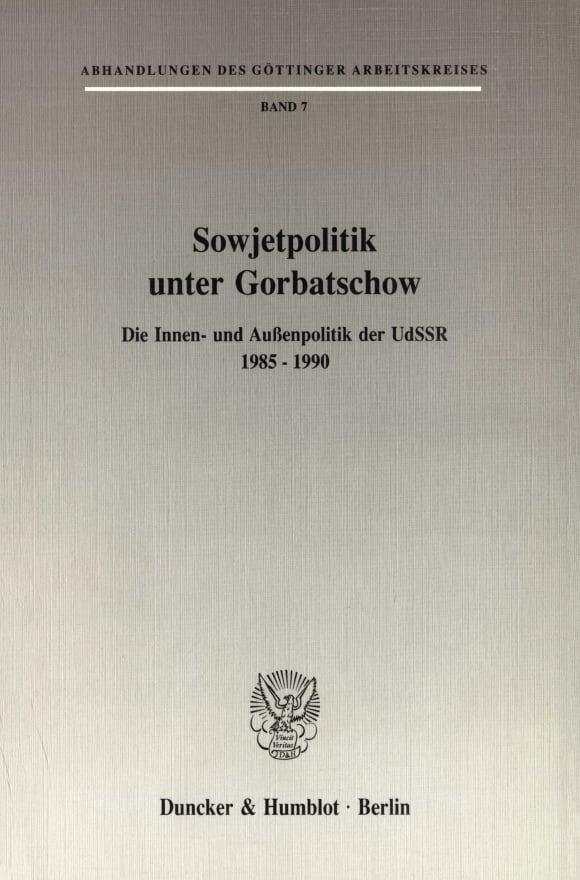 Cover Sowjetpolitik unter Gorbatschow