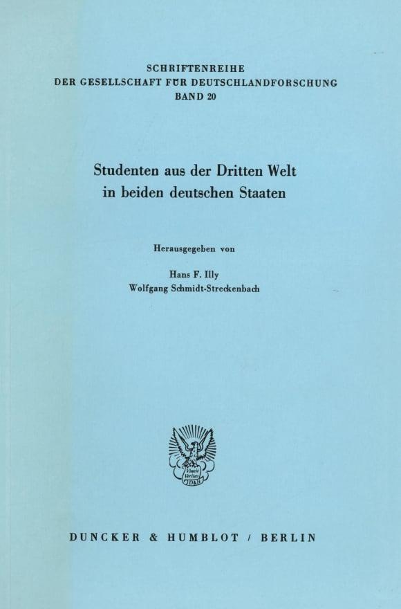 Cover Studenten aus der Dritten Welt in beiden deutschen Staaten