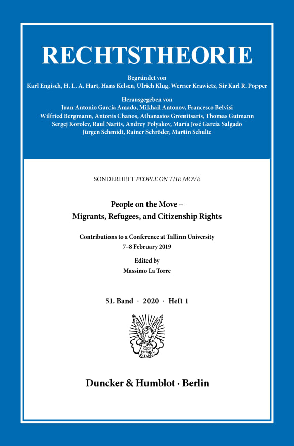 Cover People on the Move – Migrants, Refugees, and Citizenship Rights (RT 1/2020)