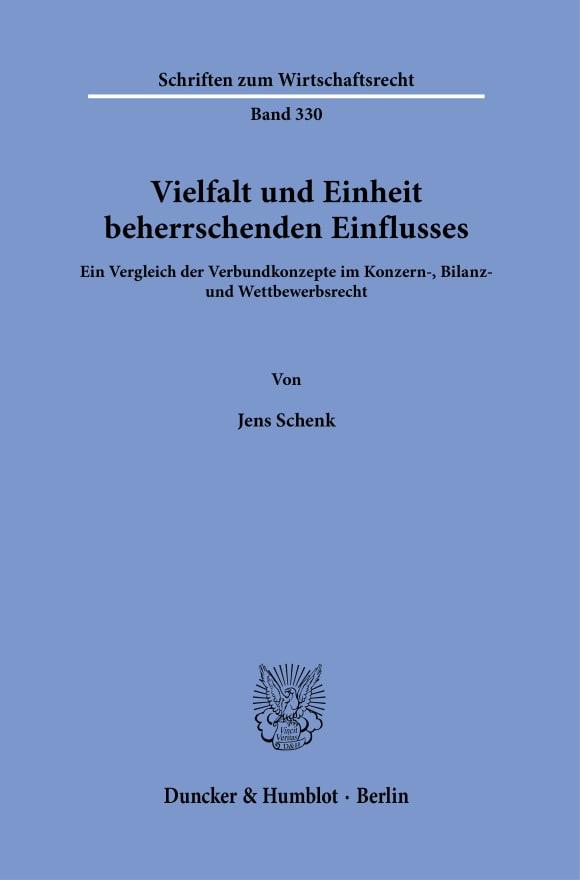 Cover Vielfalt und Einheit beherrschenden Einflusses