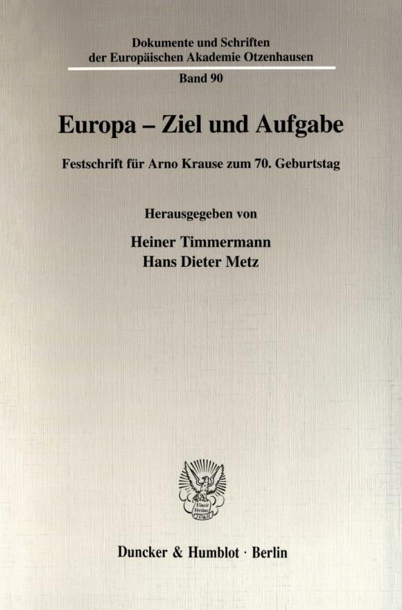Cover Europa - Ziel und Aufgabe