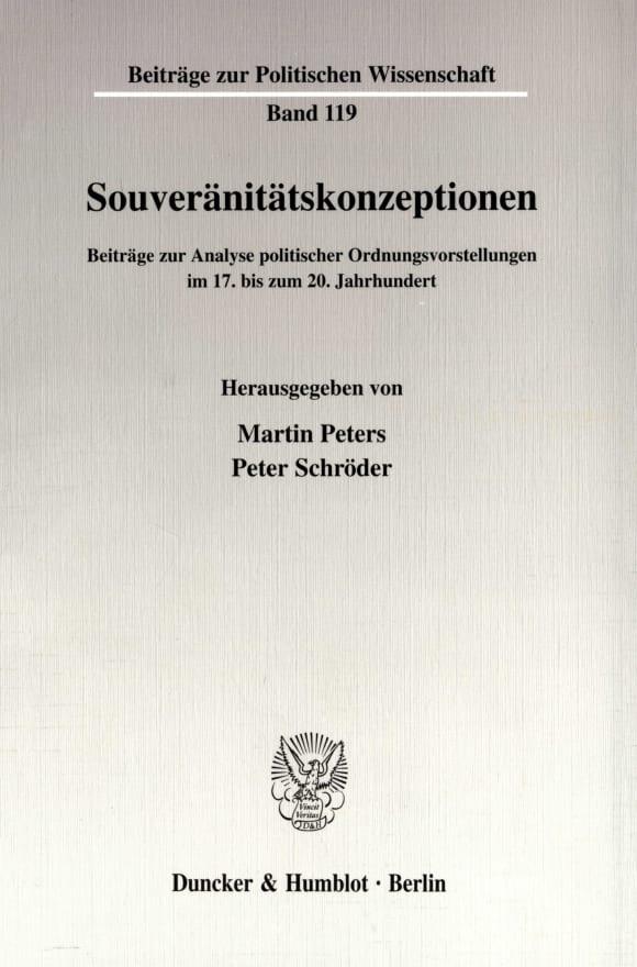 Cover Souveränitätskonzeptionen