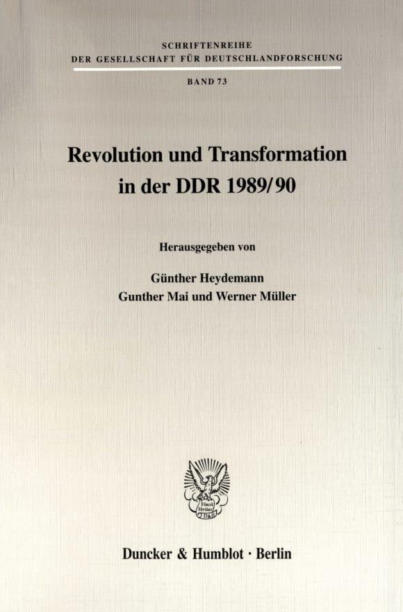 Cover Revolution und Transformation in der DDR 1989/90