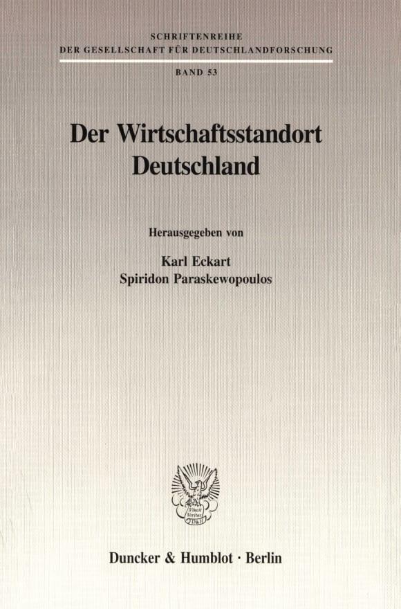 Cover Der Wirtschaftsstandort Deutschland