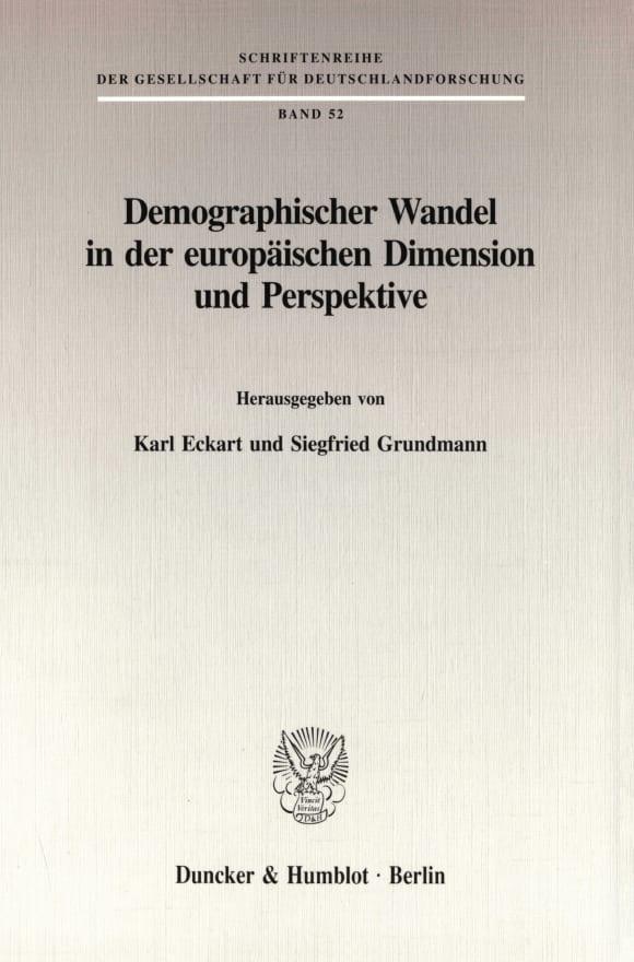 Cover Demographischer Wandel in der europäischen Dimension und Perspektive