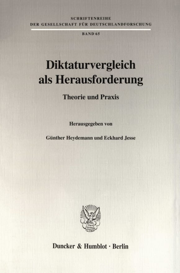 Cover Diktaturvergleich als Herausforderung