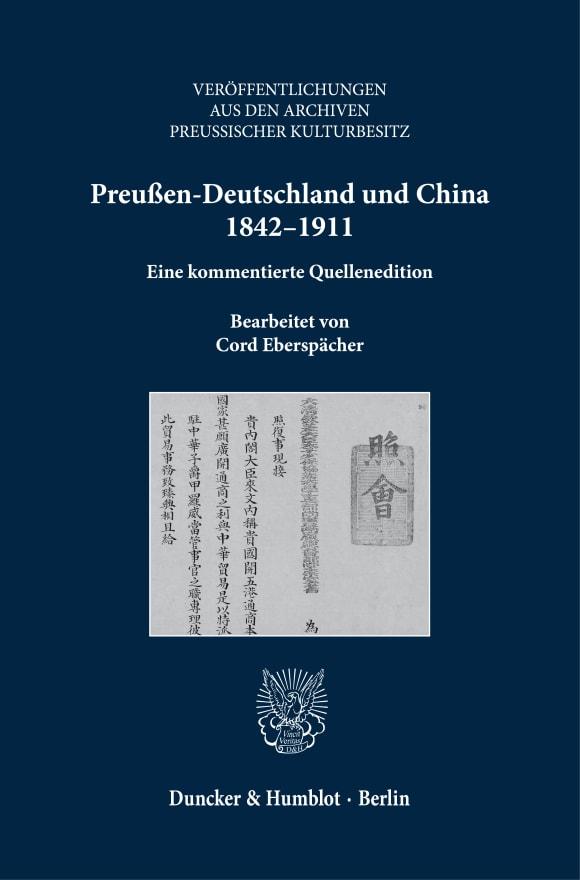 Cover Preußen-Deutschland und China 1842–1911