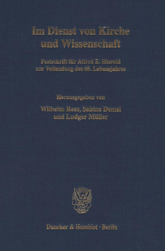 Cover Im Dienst von Kirche und Wissenschaft