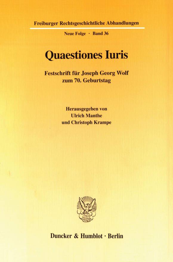 Cover Quaestiones Iuris