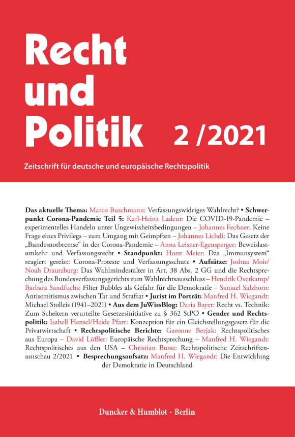 Cover RuP 2/2021