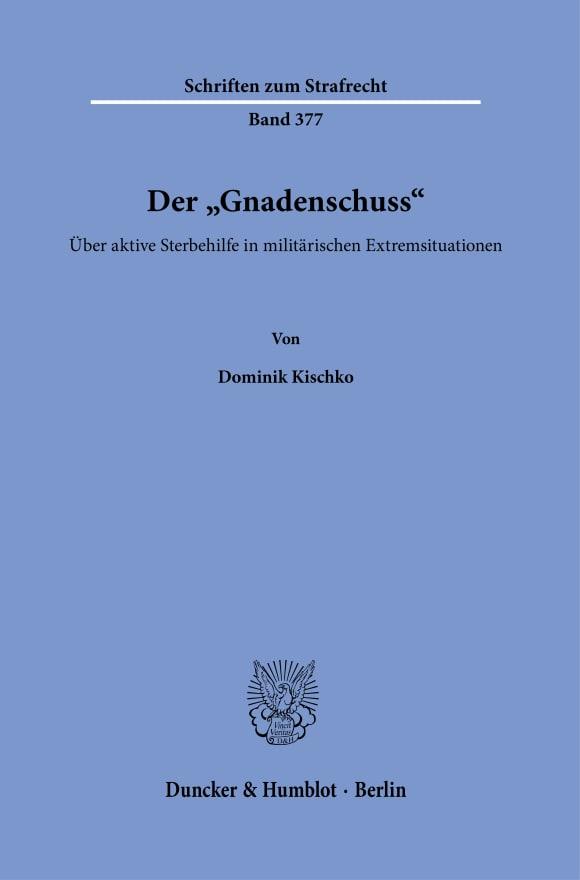 Cover Der »Gnadenschuss«