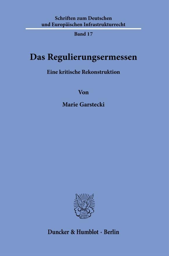 Cover Das Regulierungsermessen