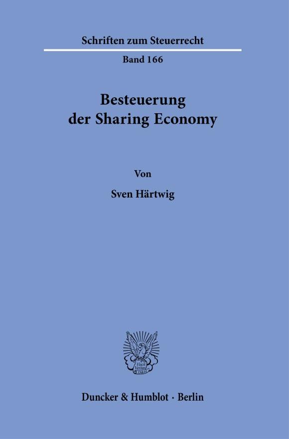 Cover Besteuerung der Sharing Economy