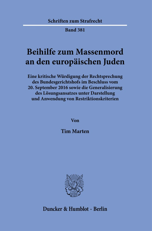 Cover Beihilfe zum Massenmord an den europäischen Juden