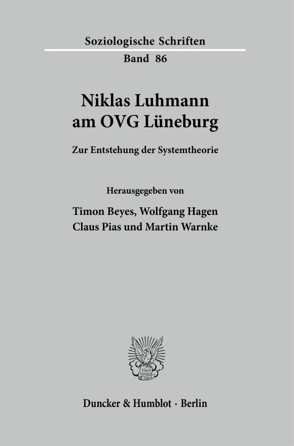 Cover Niklas Luhmann am OVG Lüneburg