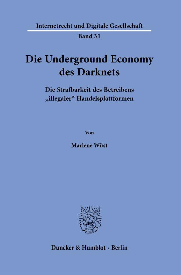Cover Die Underground Economy des Darknets