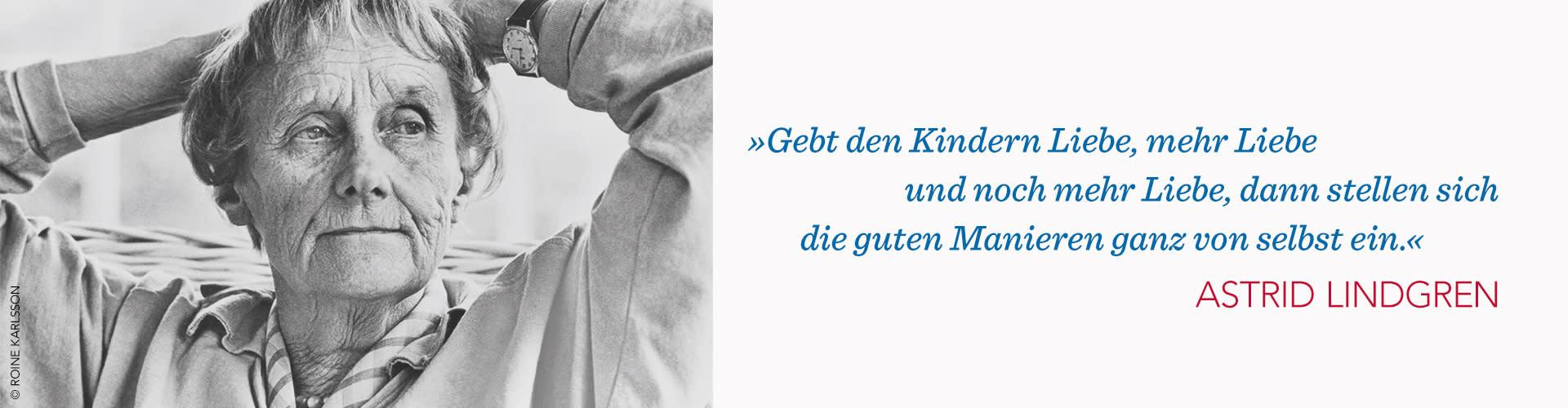 Astrid Lindgren Portrait und Zitat