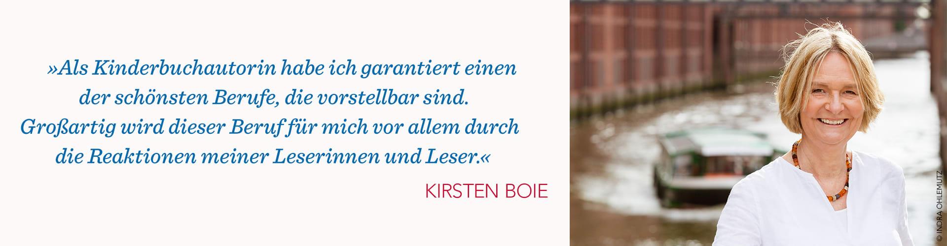 Kirsten Boie Portrait und Zitat