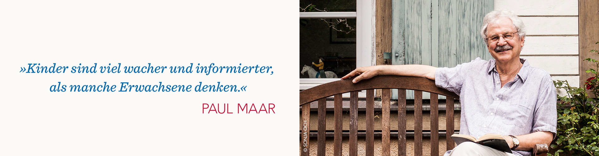 Paul Maar Portrait und Zitat