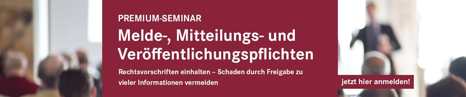 Mittelungspflichten 20.08.2019 in Frankfurt a.M