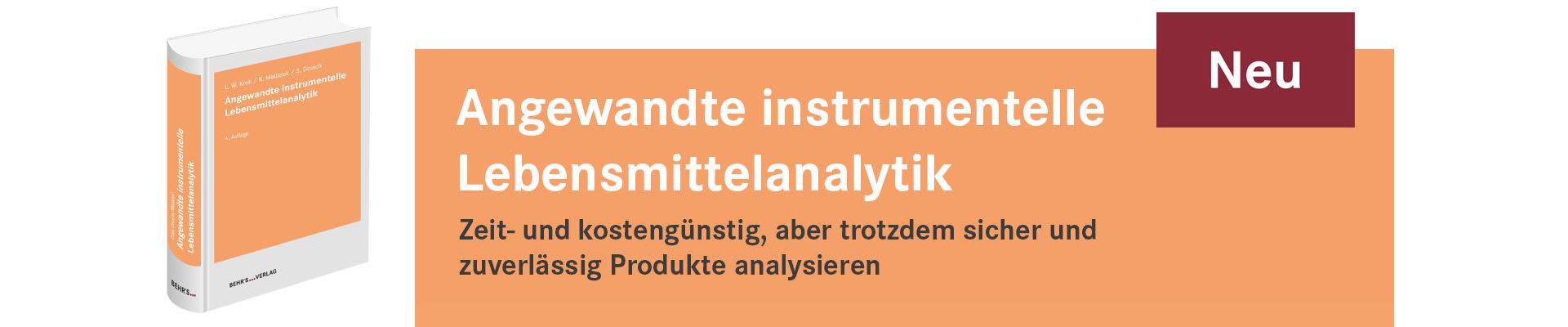 Angewandte instrumentelle Lebensmittelanalytik