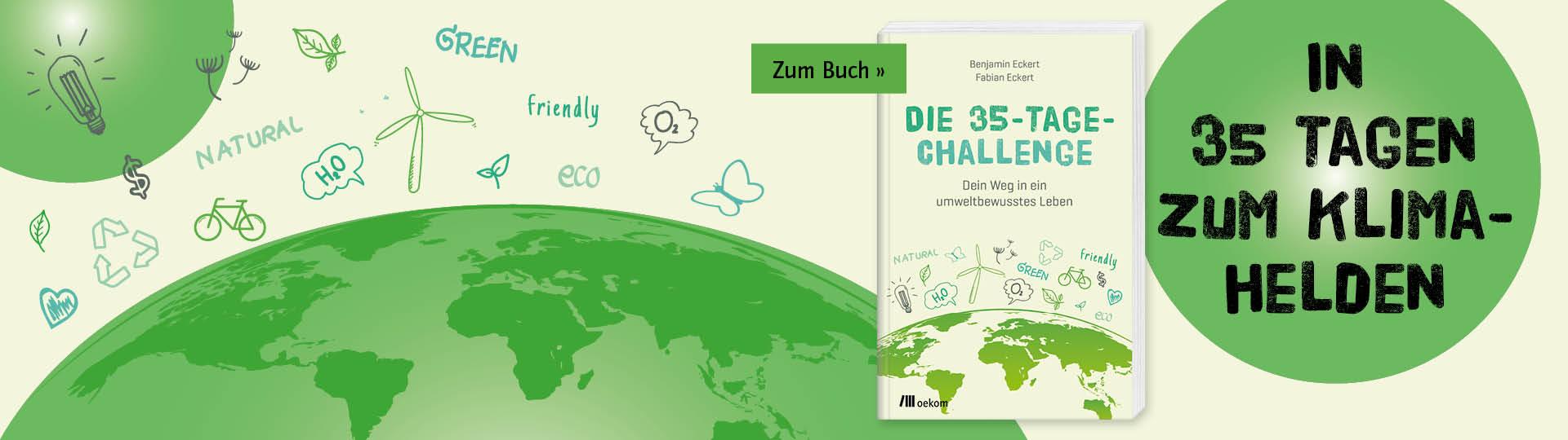 Buch für ein umweltbewusstes Leben in 35 Tagen