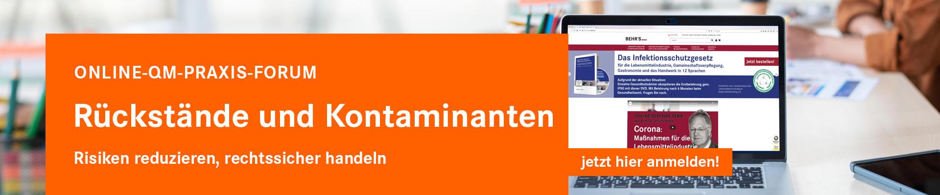 QM-Praxisforum Rückstände und Kontaminanten