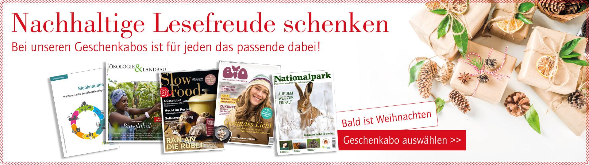 Geschenkabos für die oekom-Zeitschriften