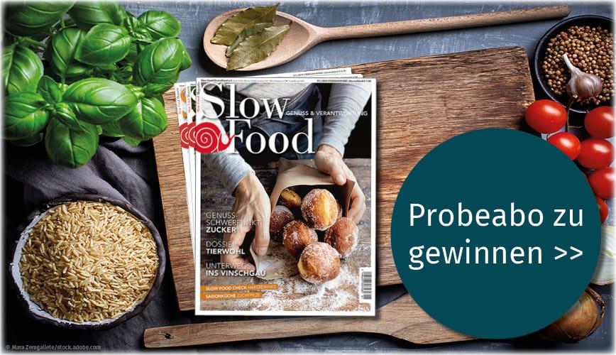 Gewinnen Sie ein Probeabo des Slow Food Magazins