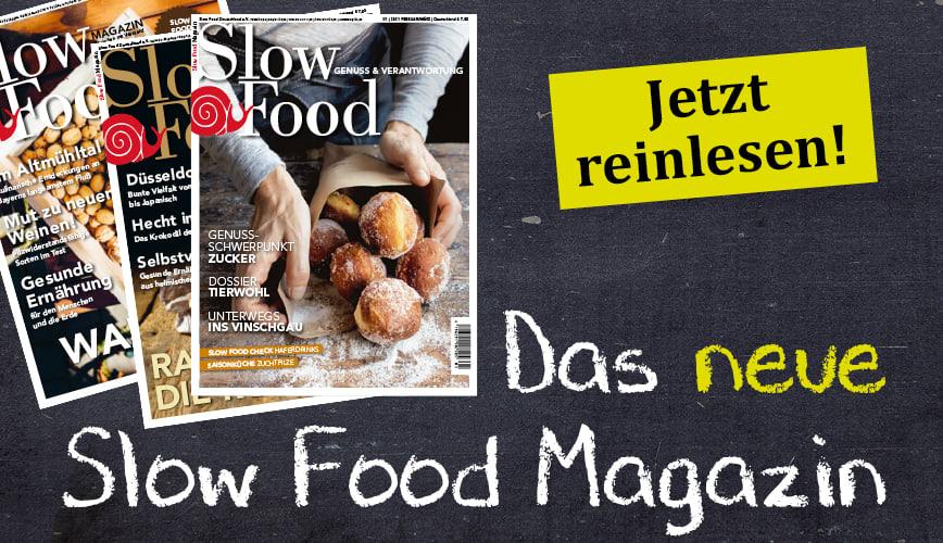 Zur aktuellen Ausgabe des Slow Food Magazins